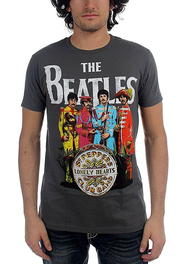The Beatles Sgt. Peppers Charcoal T-Shirt