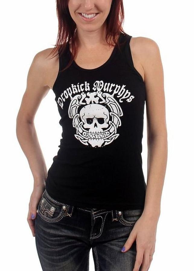 9d2e5657e5a8d Dropkick Murphys Boston Skull Women s Tank Top T-Shirt