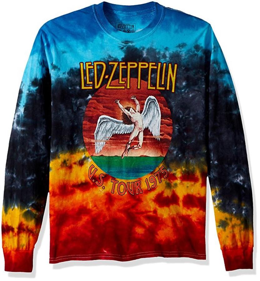 Led Zeppelin Icarus 1975 Long Sleeve Tie-Dye T-Shirt
