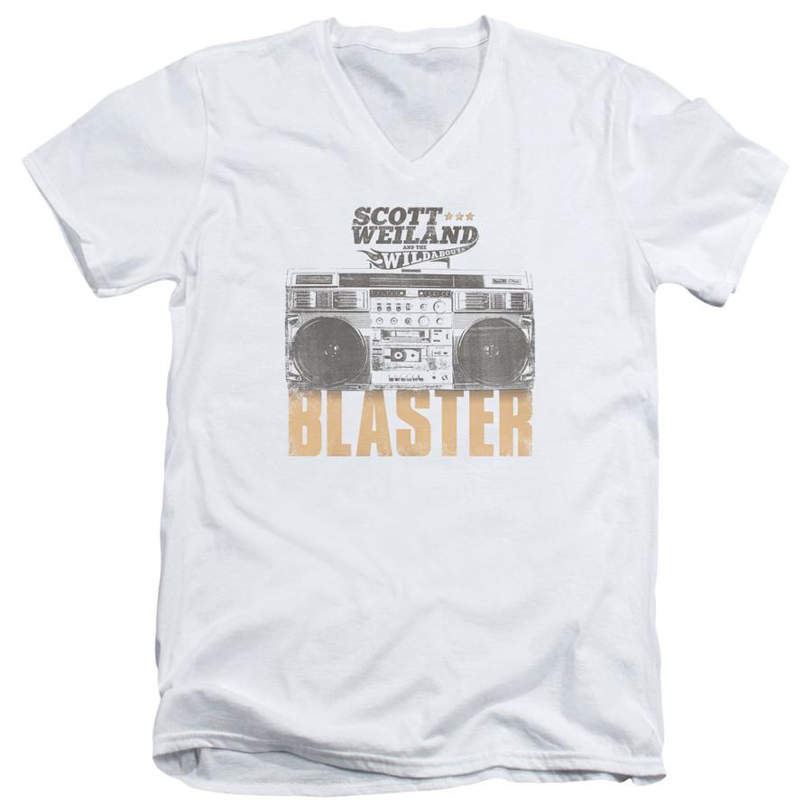 Scott Weiland Blaster Adult V-Neck T-Shirt White