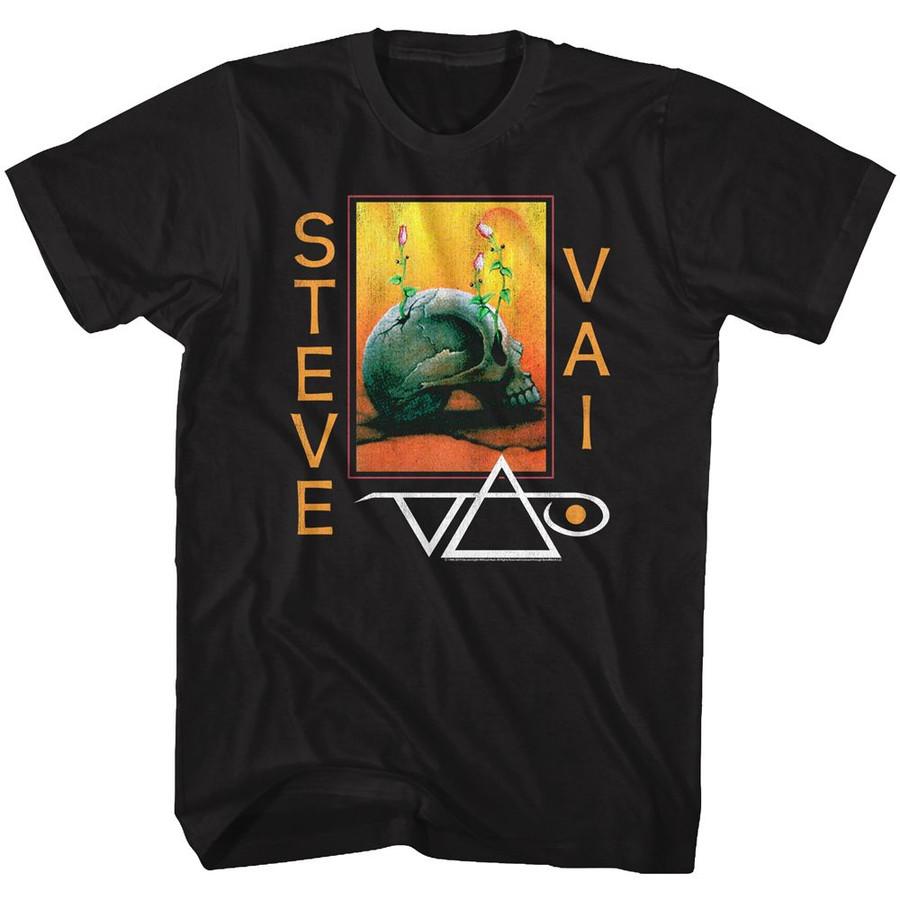 Steve Vai Flowerskull Black Adult T-Shirt