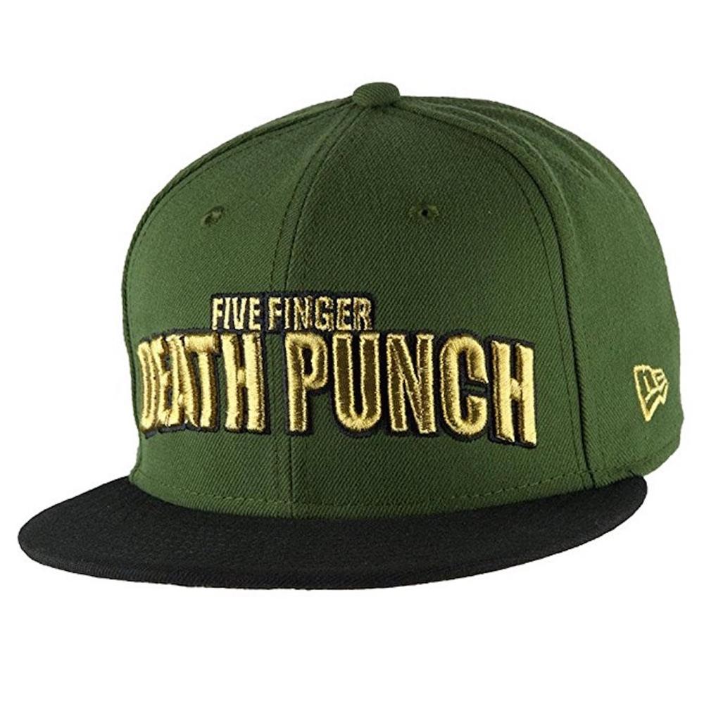 6fff1693 Five Finger Death Punch Stacked Logo Snapback Baseball Hat Cap