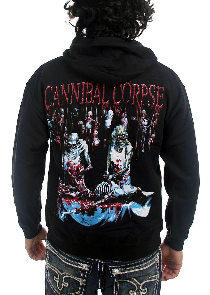 6137721a2cc Cannibal Corpse Butchered at Birth Zip Hoodie Sweatshirt