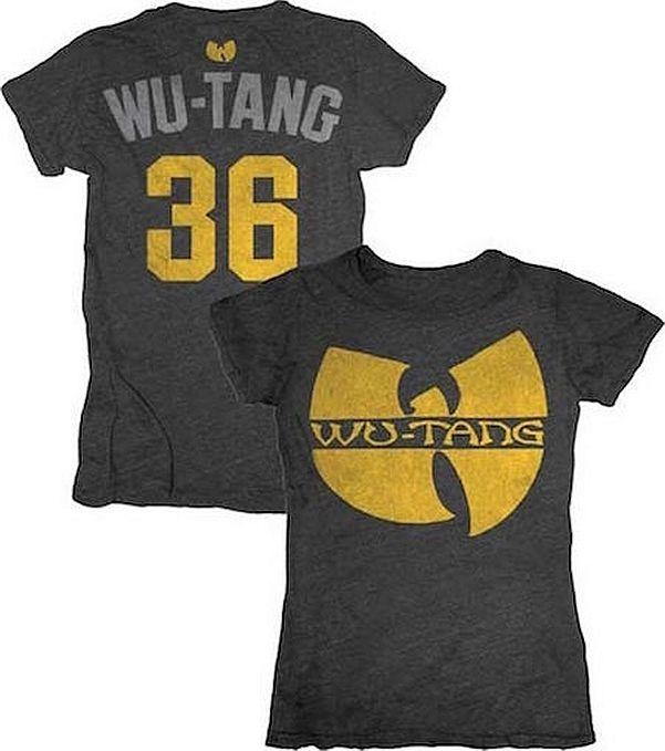 d69a5343a Wu-Tang Clan Logo 36 Junior Women's T-Shirt - Official Band Shirts