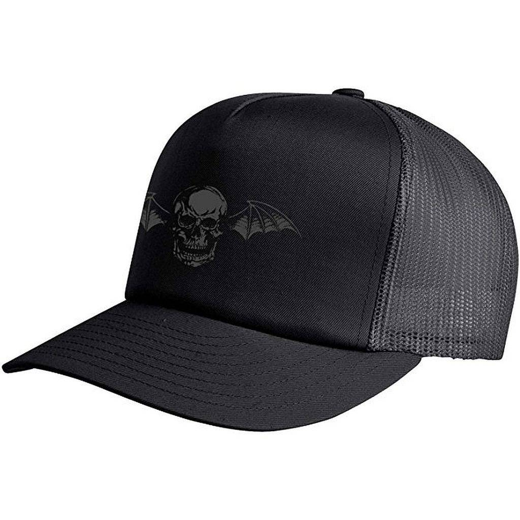 471c4f8409684 Avenged Sevenfold Deathbat 2016 Black Trucker Hat Cap