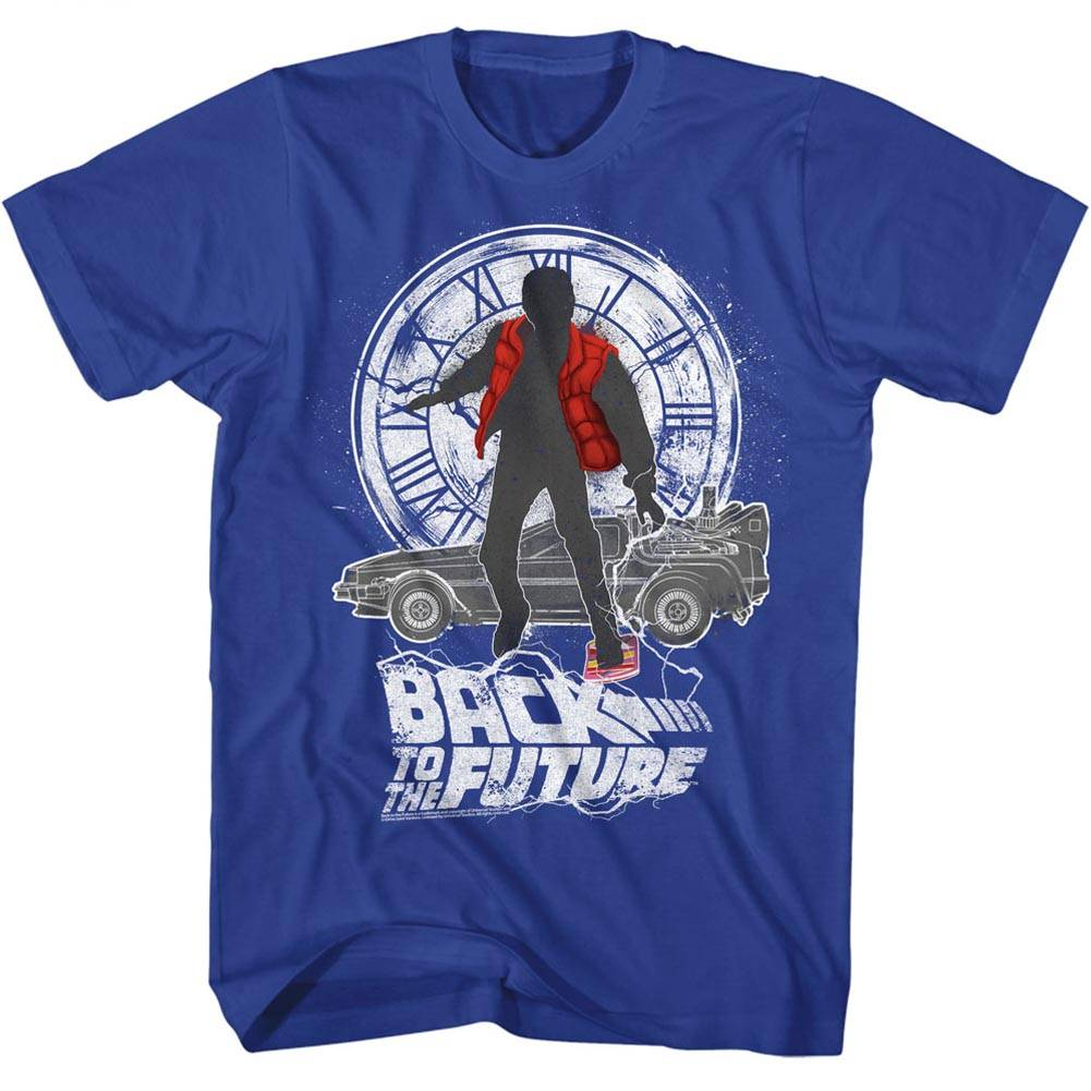 3e5b406d14db Back to the Future Silhouette Collage Royal Adult T-Shirt