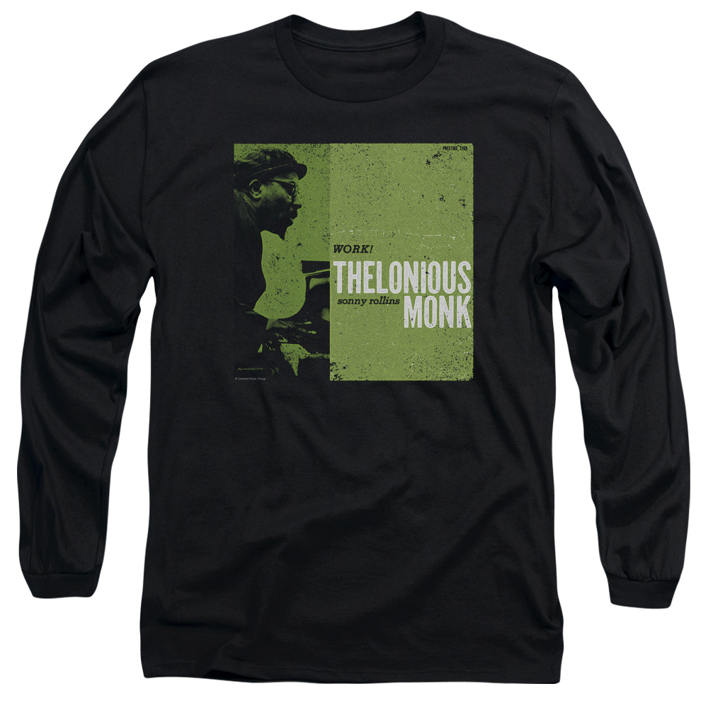 94b92248 Thelonious Monk Work Long Sleeve Adult 18/1 T-Shirt Black