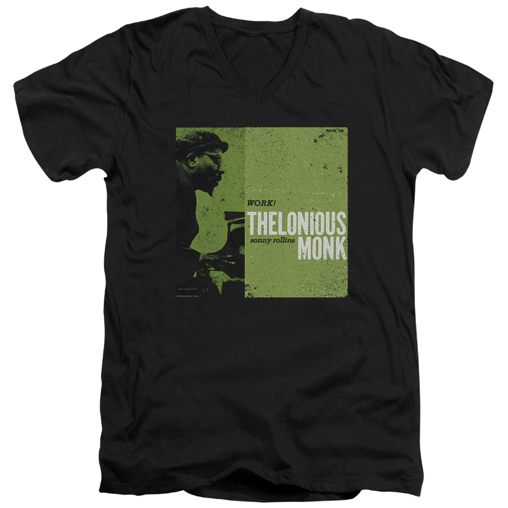 8417efec Thelonious Monk Work S/S Adult V Neck 30/1 T-Shirt Black
