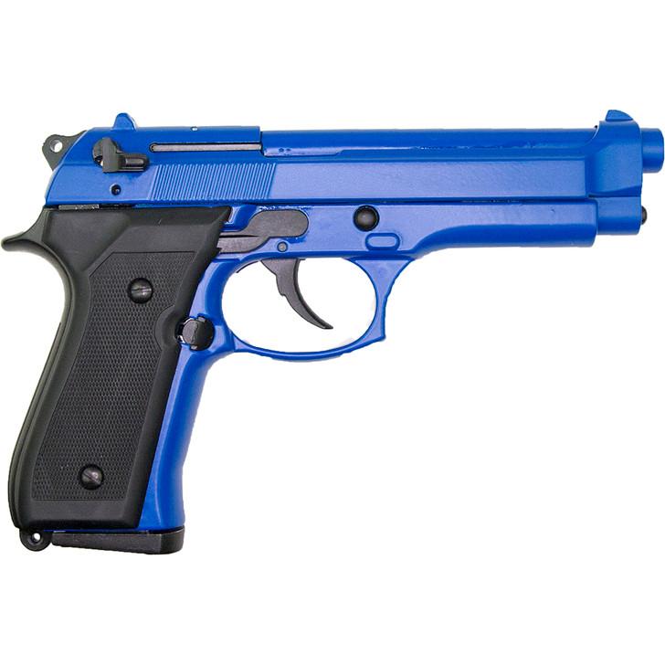 Deluxe 8mm Blank Firing Semi Auto M92 Pistol Blue Alt Image 1