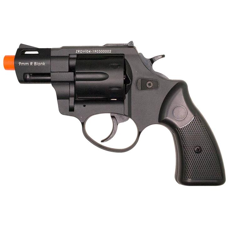 """ZORAKI R2 2"""" Front Firing Blank Revolver- Black Main Image"""