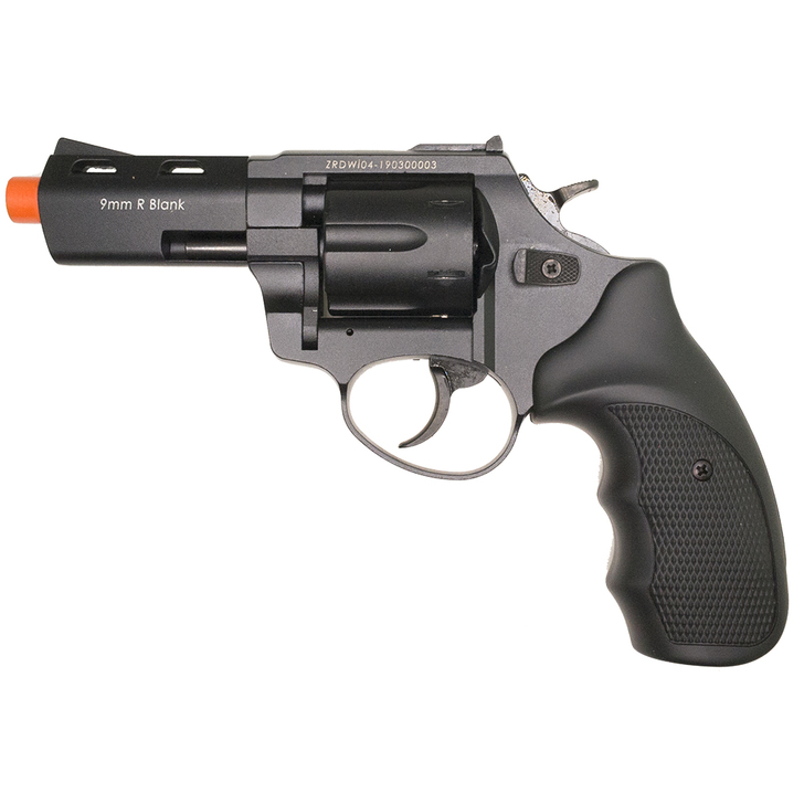 """ZORAKI R2 3"""" Front Firing Blank Revolver- Black Main Image"""
