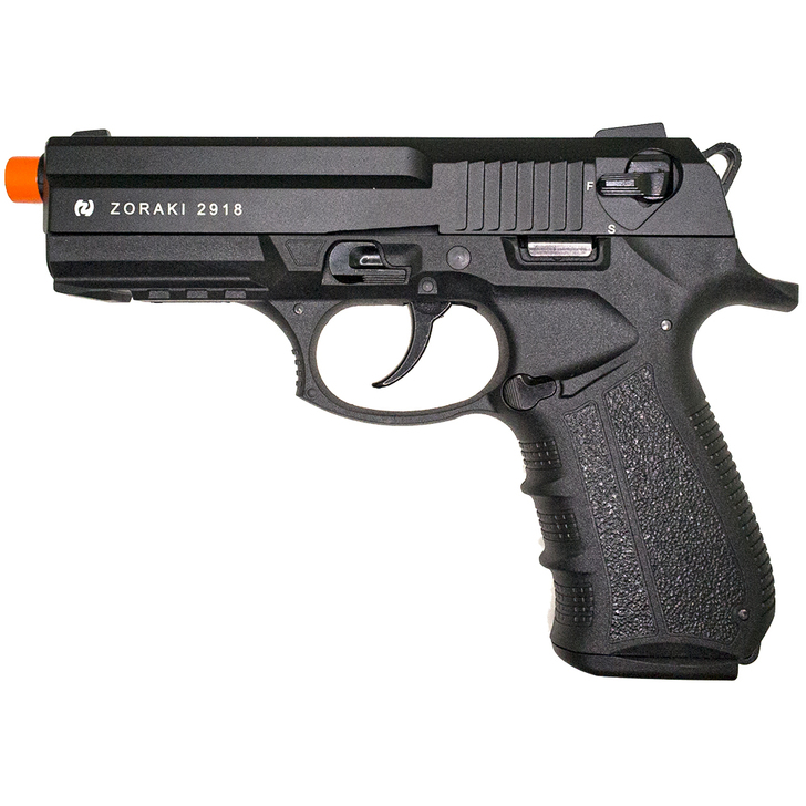 ZORAKI 2918 Semi Auto Blank Pistol - Black Main Image