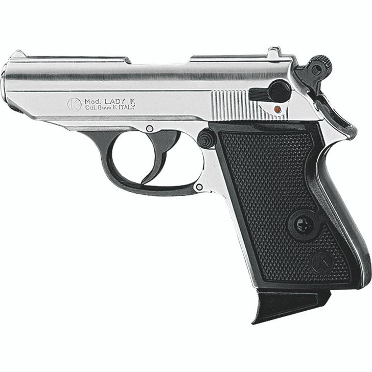 Kimar Lady K 8MM Semi-Auto Blank Firing Pistol - Nickel Finish Main Image