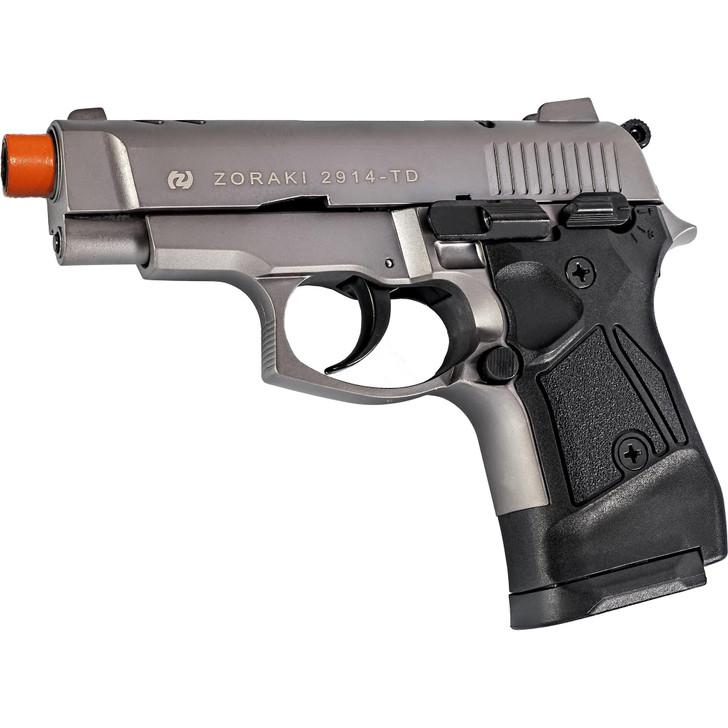 ZORAKI 2914 Semi  Auto Blank Pistol - Titanium Main Image