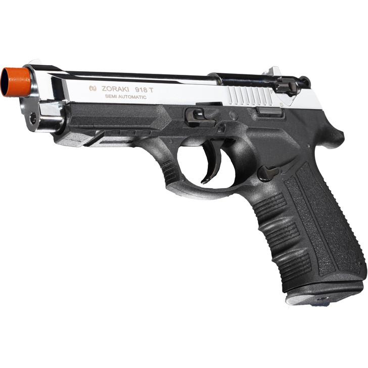 ZORAKI 918 Semi Auto Blank Pistol - Chrome Main Image