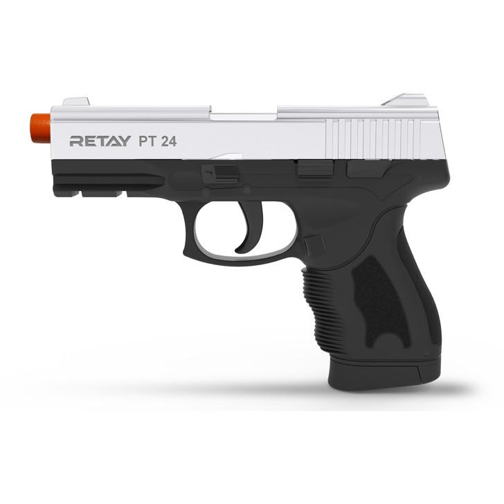 Retay PT24 Blank Pistol 9MM PAK Nickel Main Image