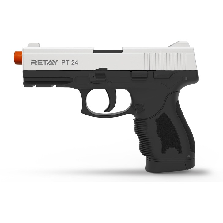 Retay PT24 Blank Pistol 9M PAK Chrome Main Image