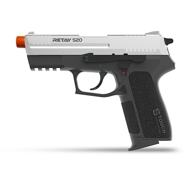 Retay S20 Blank Pistol 9MM PAK Chrome Main Image