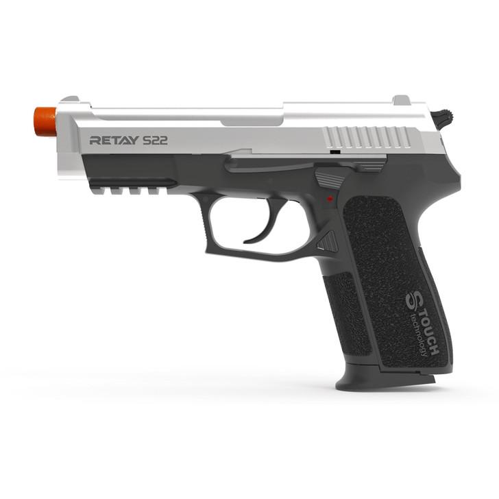 Retay S22 Blank Pistol 9MM PAK Chrome Main Image