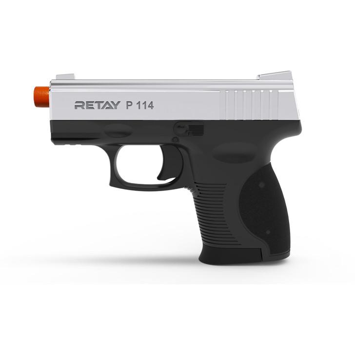 Retay P114 Blank Pistol 9MM PAK Nickel Main Image