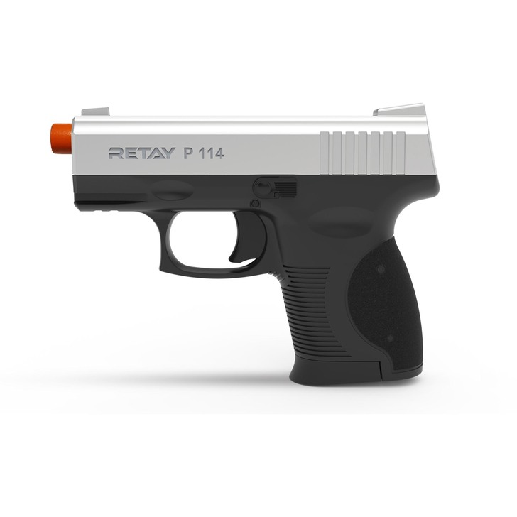 Retay P114 Blank Pistol 9MM PAK Chrome Main Image