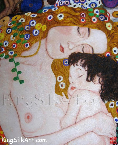King Silk Art People Mother and Child-Klimt 75105