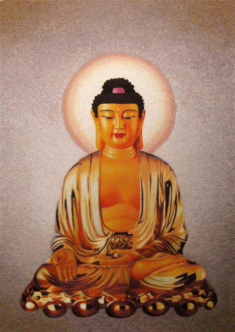 King Silk Art  People Golden Buddha 75161