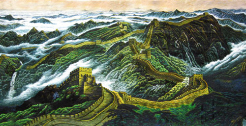 King Silk Art Landscape Great Wall of China 77077