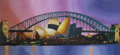 King Silk Art Landscape Sydney's Darling Harbour Bridge 77206