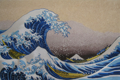 King Silk Art Landscape Huge Wave 77212
