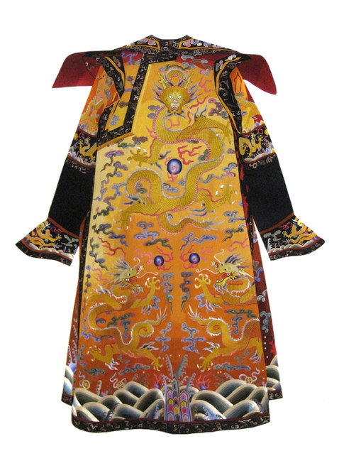 King Silk Art Still Life Golden Dragon Robe--Medium 78001