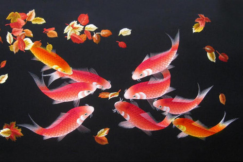 King Silk Art Wildlife Fish Nine Emperor's Red Koi Fish 82013