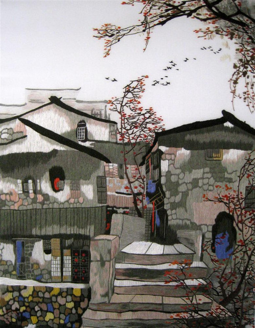 King Silk Art  Suzhou in Spring-Vertical 87221