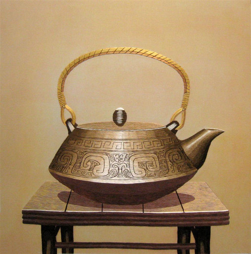 King Silk Art Brass Teapot-Right 88030