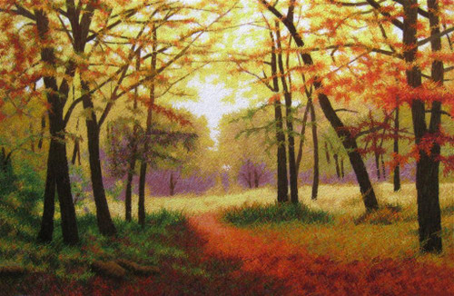 King Silk Art Landscape Golden Forest 87123