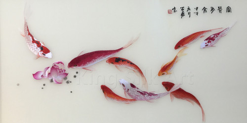 King Silk Art  Nine Fish 72039