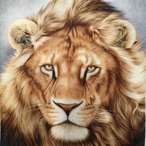 King Silk Art Wildlife Lion Head 74010