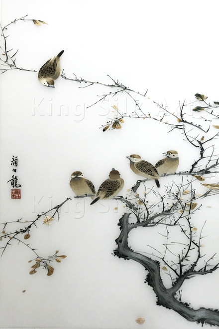 King Silk Art Wildlife Birds on Branch 71090
