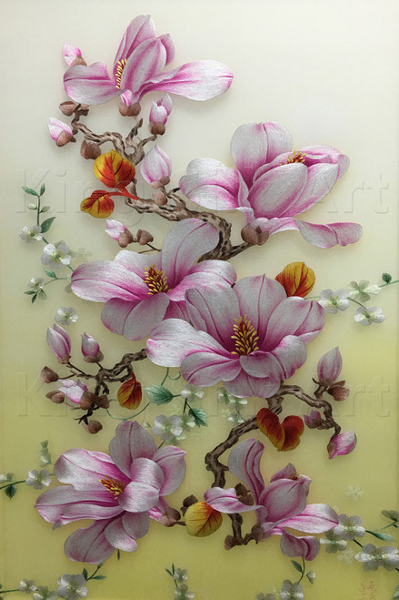 King Silk Art Flower Magnolia Leaves 76092