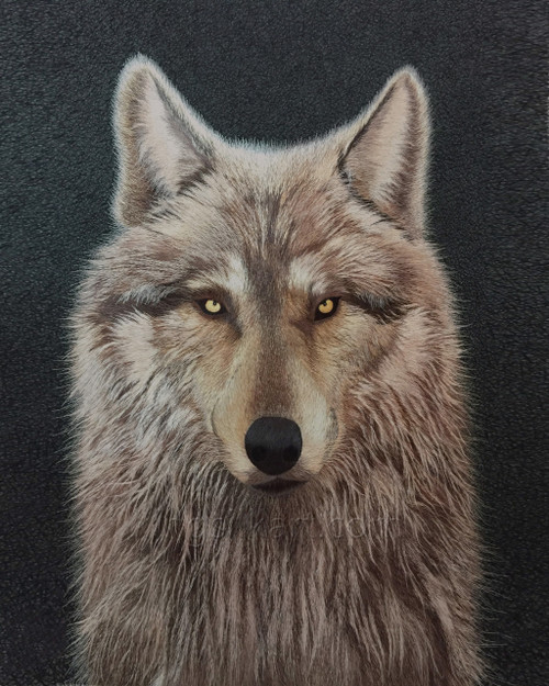King Silk Art  Wildlife Animal Wolf Face 74126