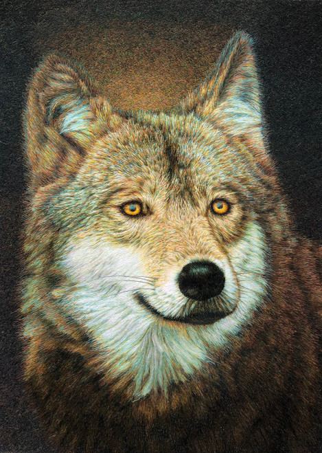 King Silk Art Wildlife Wolf 74127