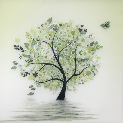 King Silk Art Contemporary Spring Tree 77345