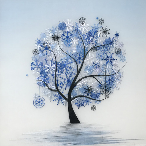 King Silk Art  Contemporary Winter Tree 77347