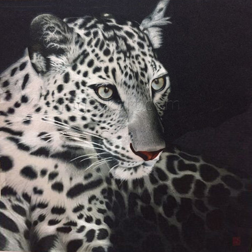 King Silk Art  Wildlife Black Leopard 74123