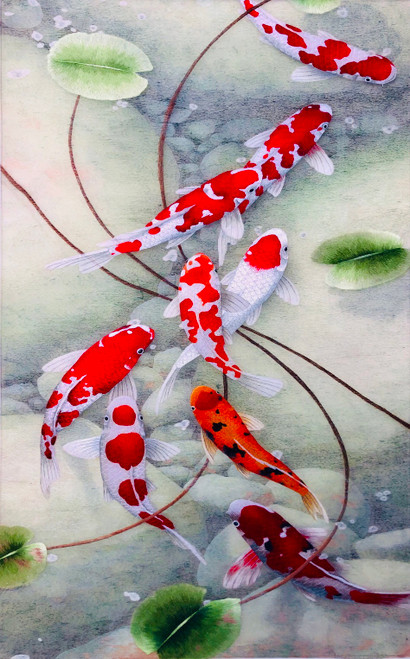 King Silk Art Wildlife  Nine Koi 72126
