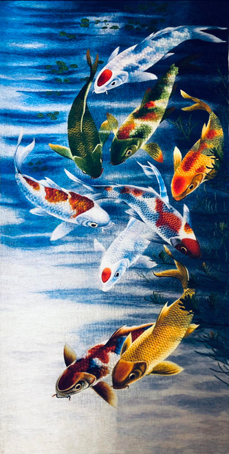 King Silk Art  Wildlife Nine Koi 72125
