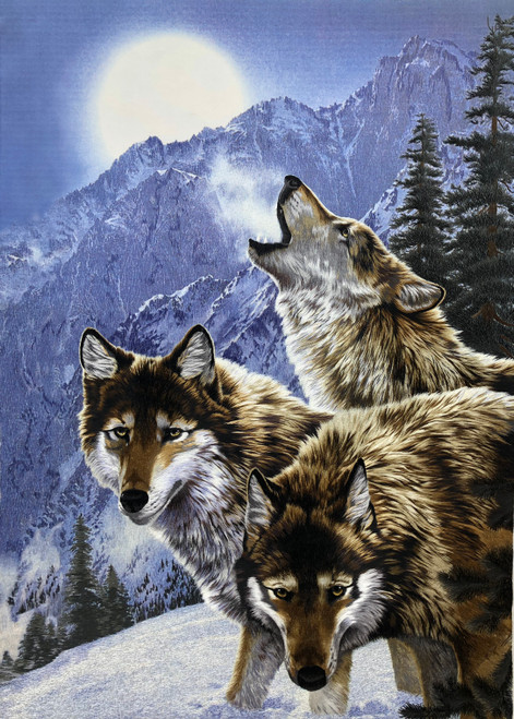 King Silk Art  Wildlife Animal Wolf 74131