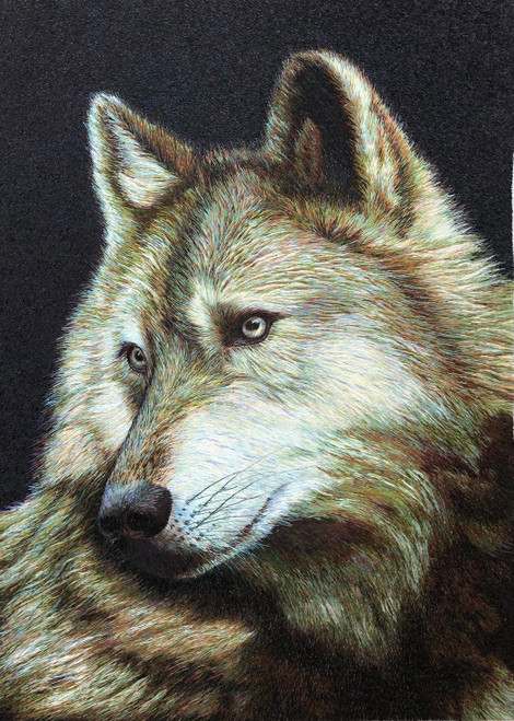 King Silk Art Wildlife Animal Wolf 74133