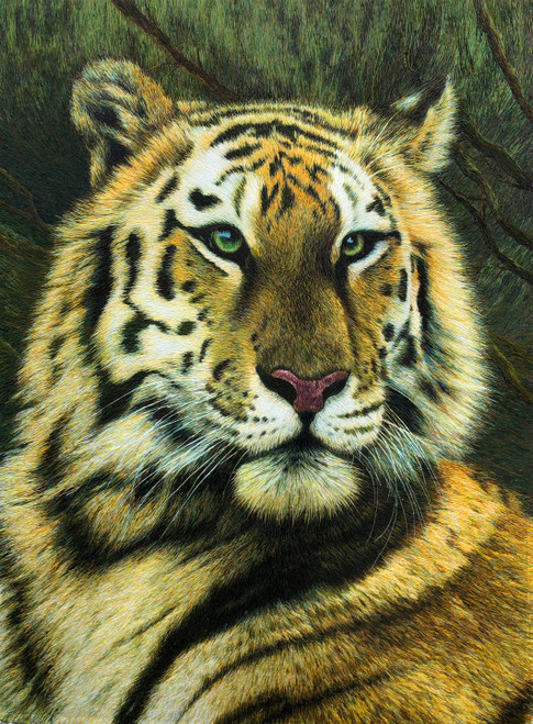 King Silk Art  Wildlife Animal Tiger 74117