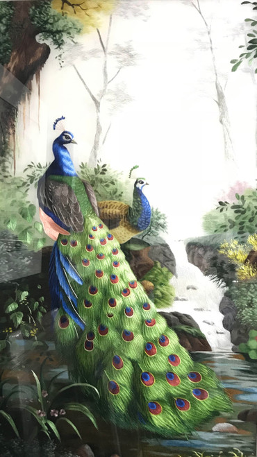 King Silk Art  Wildlife Bird Peacock and Peahen 71078